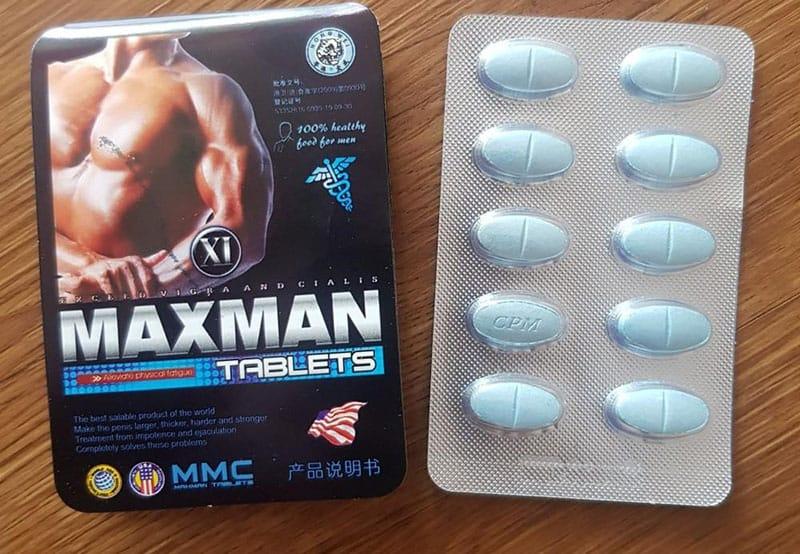 Bao bì sản phẩm bổ trợ sinh lý Maxman