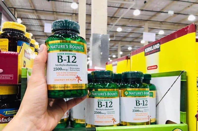 Viên uống Nature's Bounty B12 giúp bổ sung năng lượng tối ưu