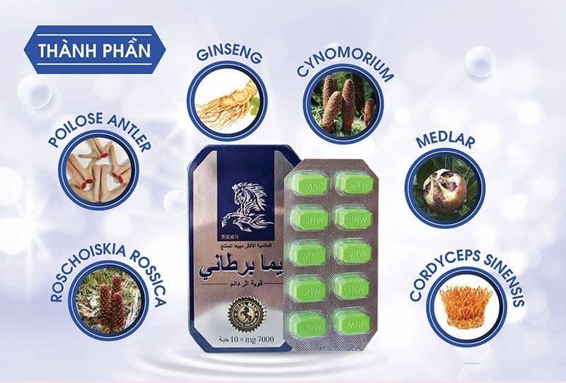 Sản phẩm có thành phần chính là các chiết xuất thảo dược tự nhiên tốt cho sức khỏe