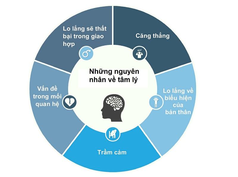 Áp lực tâm lý là một trong những nguyên nhân lớn nhất dẫn đến rối loạn cương dương