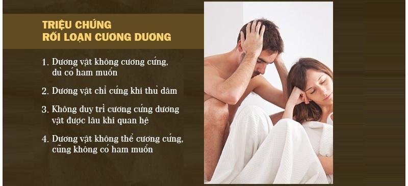 Các biểu hiện rối loạn cương dương ở nam giới dễ nhận biết