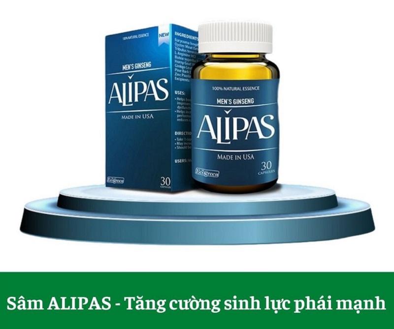 Sâm Alipas là sản phẩm hỗ trợ tăng cường sinh lý đến từ thương hiệu St. Paul Brands của Mỹ