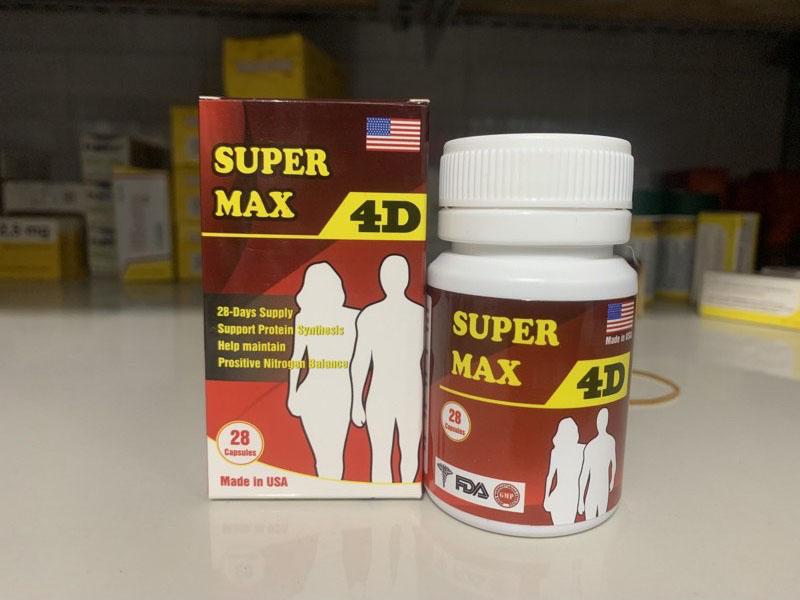 Super Max 4D là sản phẩm giúp tăng cân được tin dùng