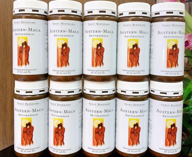 Viên uống Austern Maca Aktiv Kapseln giúp tăng cường sinh lý dùng được cho cả nam và nữ