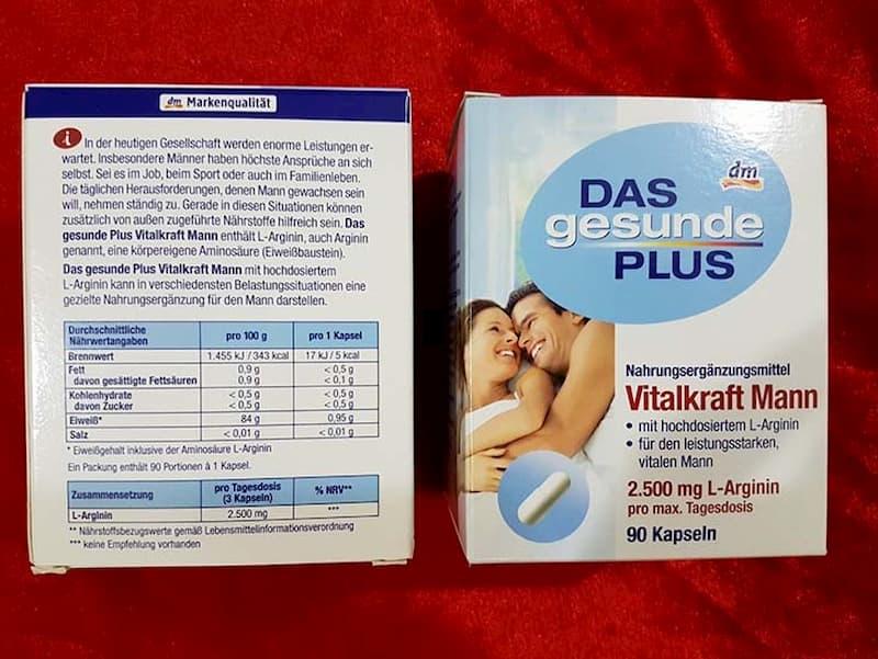 Vitalkraft Mann L-Arginine chứa thành phần hoàn toàn từ các thảo dược thiên nhiên nên thân thiện với người dùng