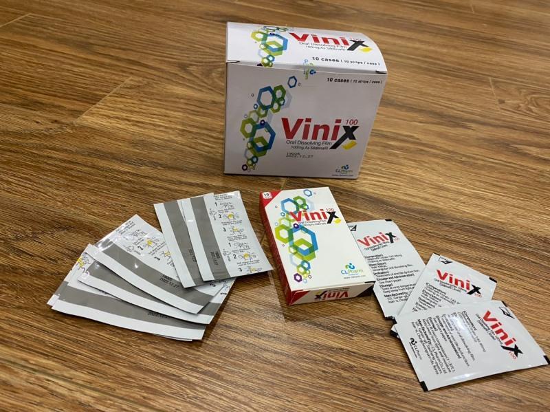 Vinix 100g dạng tem ngậm, mang lại hiệu quả nhanh chóng sau khi sử dụng