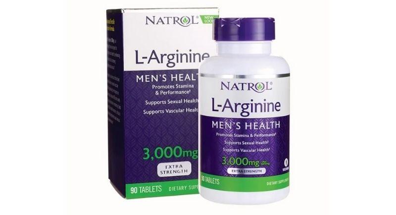 Natrol L-Arginine men's health là sản phẩm nổi tiếng của Mỹ trong quá trình tăng cường sinh lý cho nam
