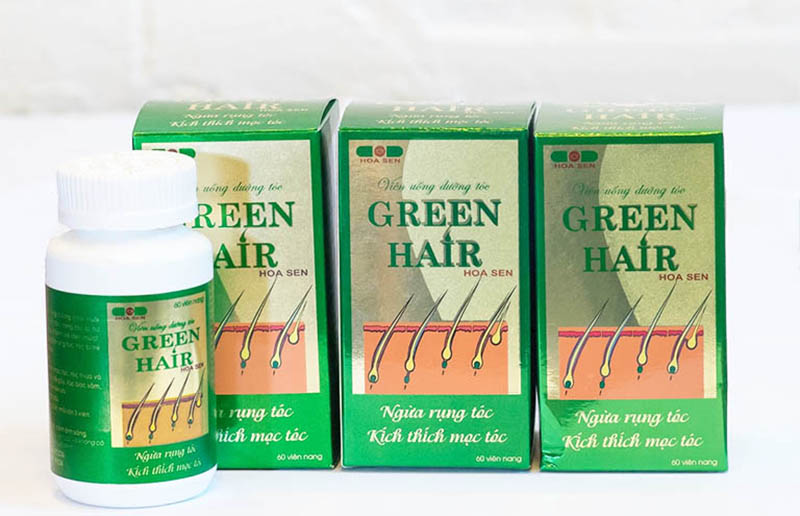 Green Hair có chiết xuất thiên nhiên điều hòa bài tiết hormone để giảm rụng tóc