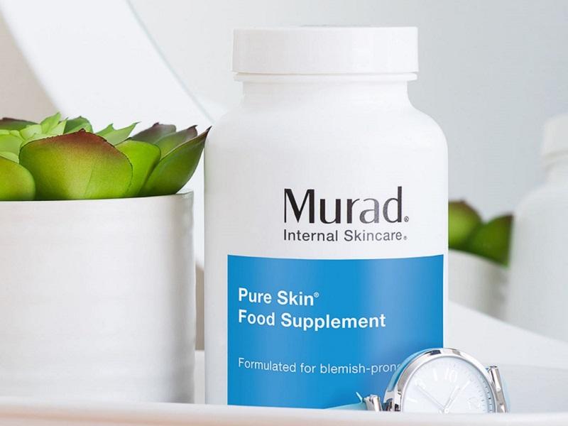 Viên uống Murad là sản phẩm hỗ trợ chăm sóc da mặt mụn