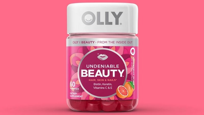 Olly Undeniable Beauty Gummy hỗ trợ tăng sinh collagen