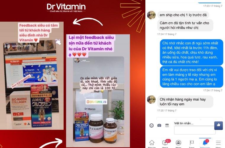 Feedback từ khách hàng lựa chọn sản phẩm tại Dr Vitamin