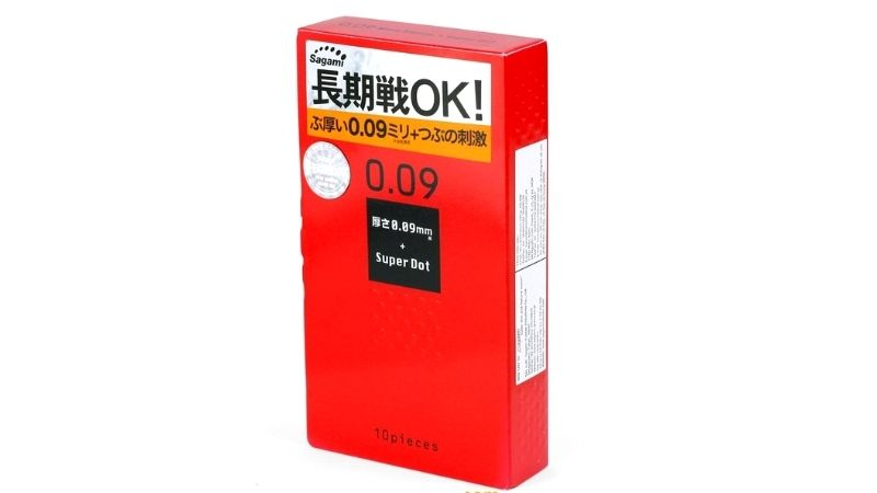 Bao cao su kéo dài thời gian Sagami Super Dot 009