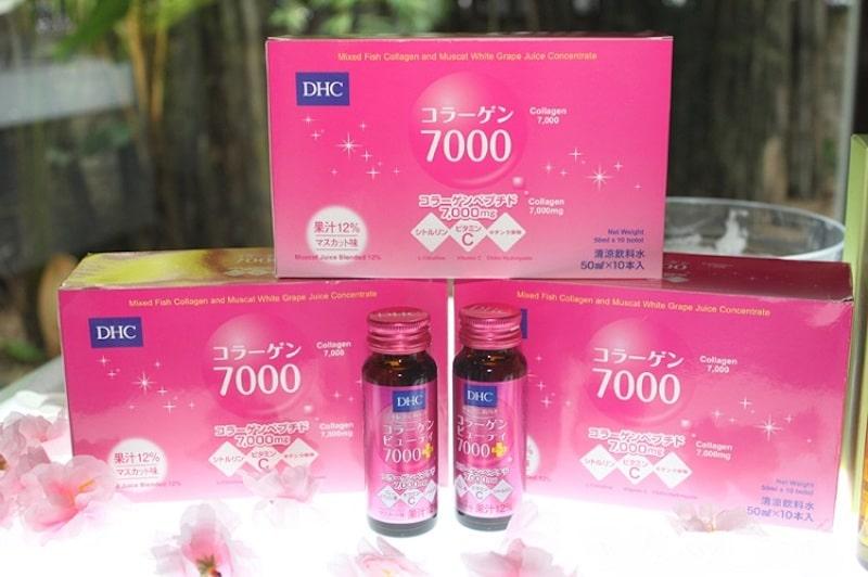 Chăm sóc da mặt bị nám với nước DHC Collagen Beauty 7000 Plus
