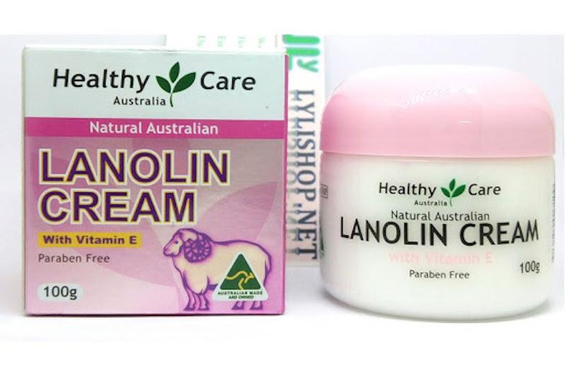 Kem nhau thai cừu tự nhiên Healthy Care Lanolin Cream With Vitamin E