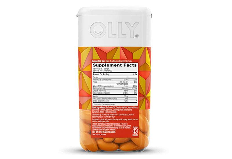 Viên nhai Olly Hair Ultra 30 Softgels cung cấp nhiều vi khoáng cần thiết cho mái tóc