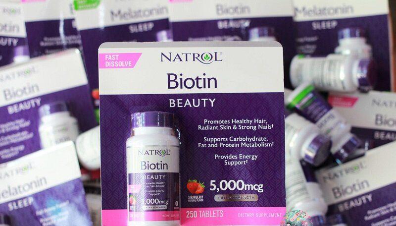Viên ngậm Natrol Biotin có chức năng chính là hỗ trợ mọc tóc phòng bệnh trên da đầu