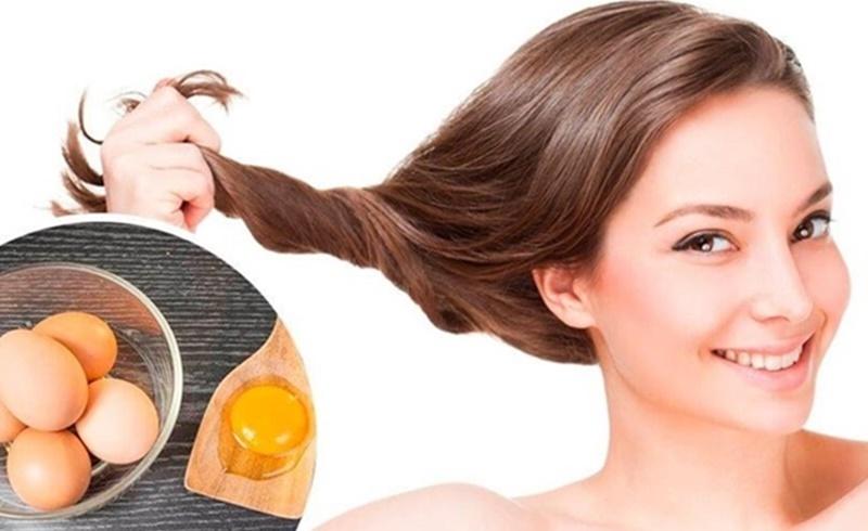 Ủ tóc bằng trứng gà kết hợp với sữa chua để tóc được mềm mượt
