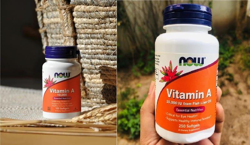 Vitamin A Now Foods giúp tăng cường sức đề kháng, bảo vệ mắt hiệu quả