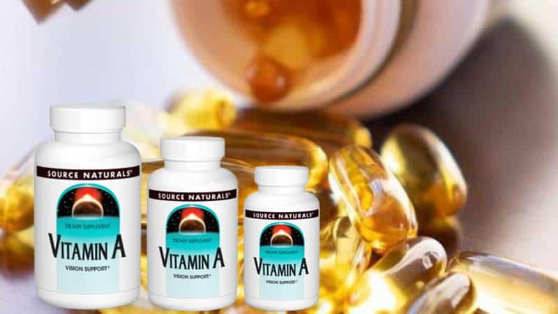 Source Naturals Vitamin A đem gồm 250 viên nang mềm