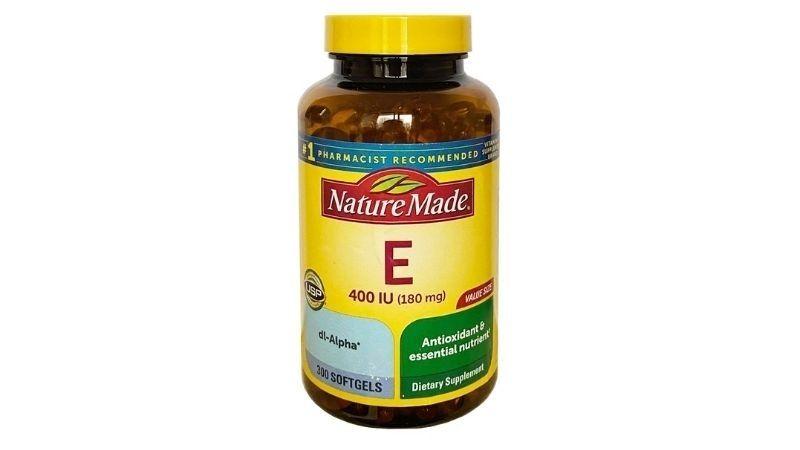 Thực phẩm chức năng vitamin E Nature Made đem đến hiệu quả chăm sóc tóc và da rất tốt