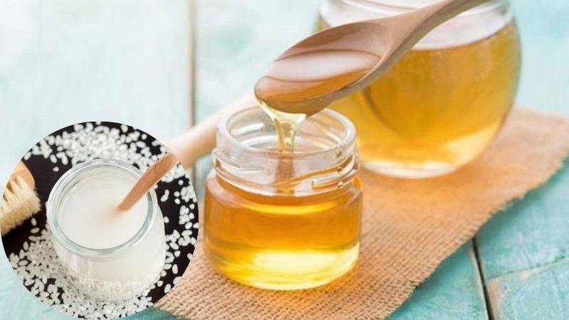 Công thức nước vo gạo và mật ong