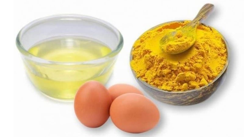 Dưỡng da bằng hỗn hợp nghệ trứng gà