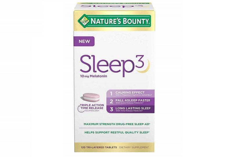 Sản phẩm viên uống bổ trợ giấc ngủ Nature's Bounty Sleep 3