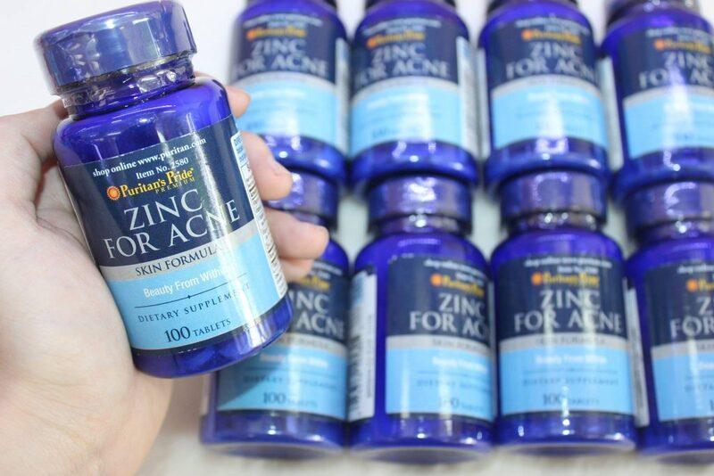 Viên uống Puritan'S Pride Premium Zinc For Acne