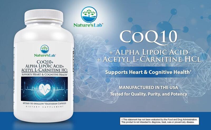 Viên uống Nature's Lab CoQ10 + Alpha Lipoic Acid + Acetyl L-Carnitine HCl