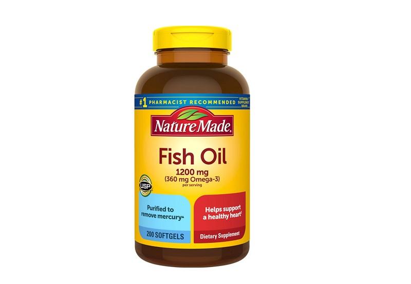 Nature Made Fish Oil 1200mg Omega 3 tăng cường thị lực