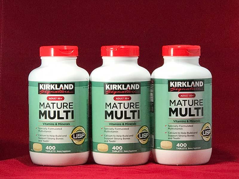 Thực phẩm chức năng cho người già Kirkland Mature Multi