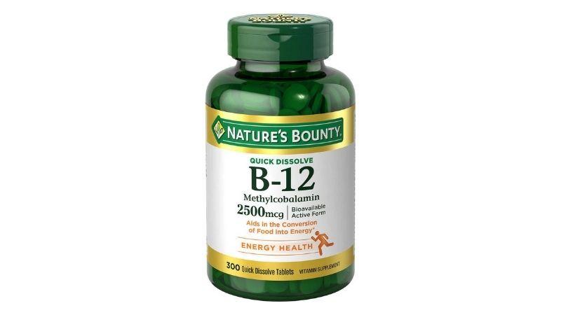 Bạn cũng có thể sử dụng viên uống Nature's Bounty 2500mcg