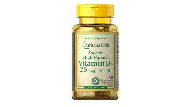 Thực phẩm chức năng vitamin D3 1000 IU Puritan's Pride