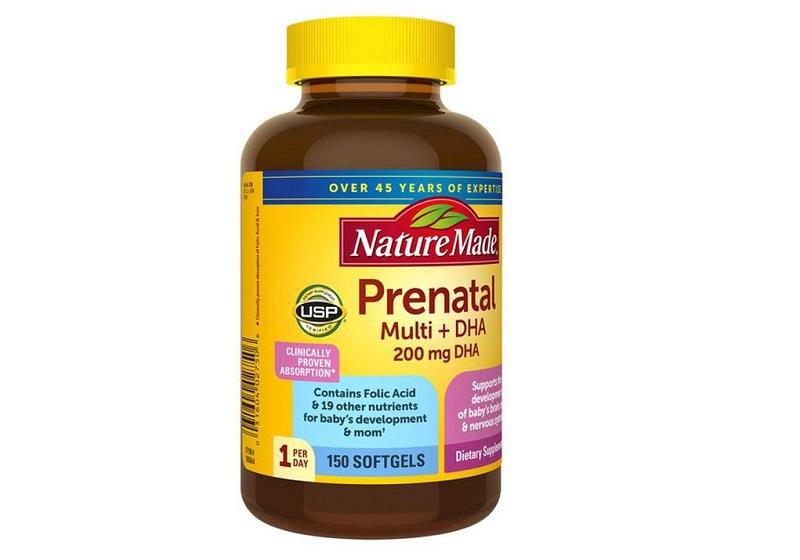 Vitamin A cho bà bầu Nature Made Prenatal Multi +DHA