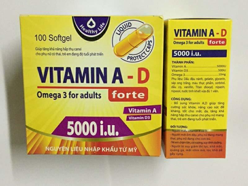 Thực phẩm chức năng chứa vitamin A tốt cho da