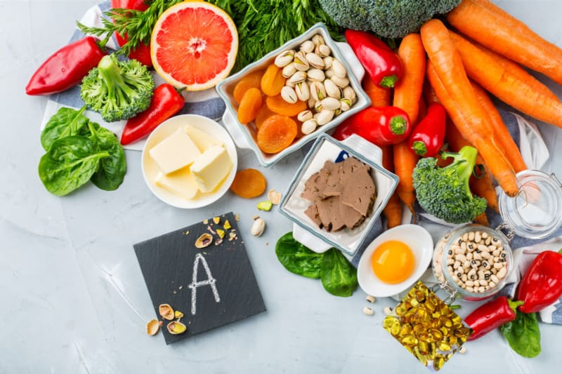 Cần đảm bảo lượng vitamin A dung nạp vào cơ thể qua thực phẩm hàng ngày