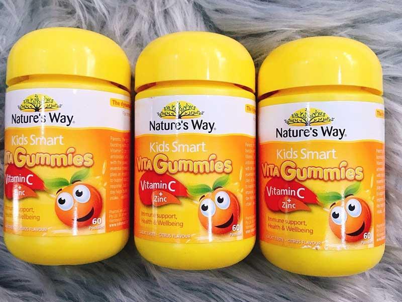 Kẹo dẻo cho bé Nature's Way Vita Gummies Vitamin C + Zinc