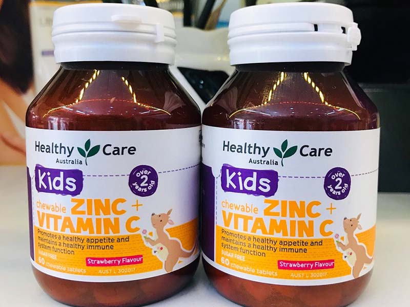 Vitamin C cho bé Zinc + Vitamin C Healthy Care