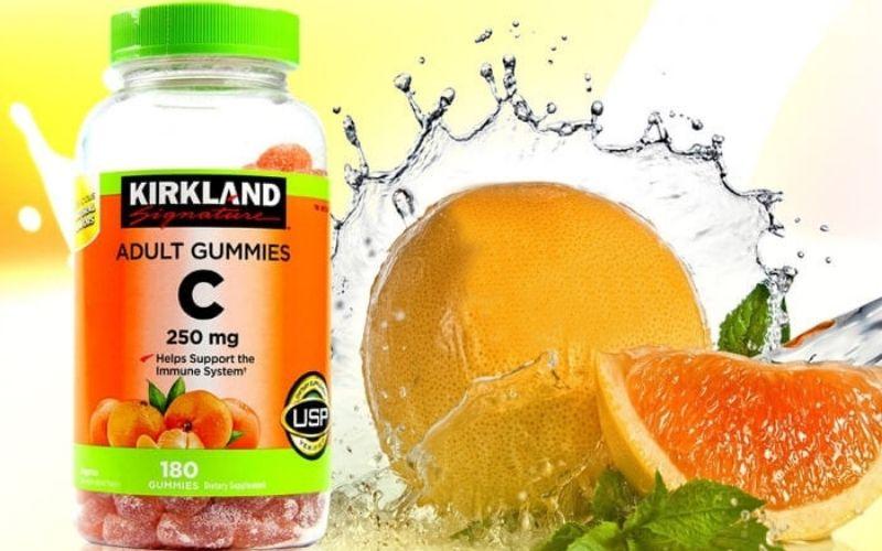 Kẹo dẻo Kirkland Adult Gummies tăng cường vitamin C
