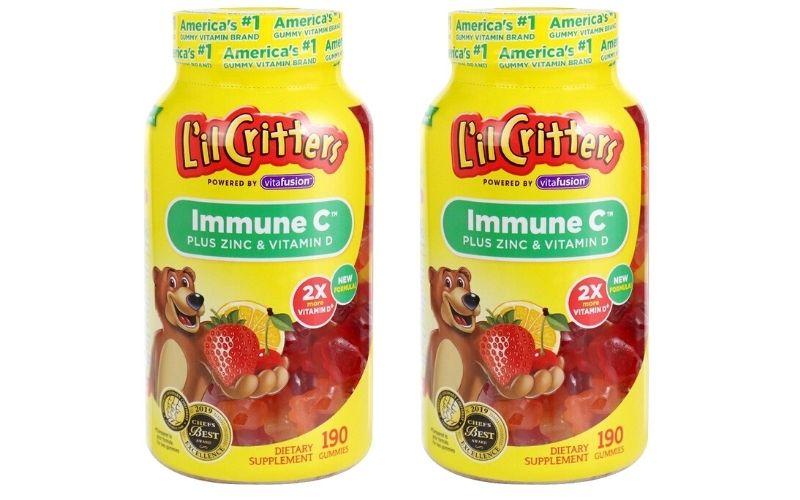 Kẹo dẻo bổ sung vitamin C L'IL Critters immune cho trẻ em