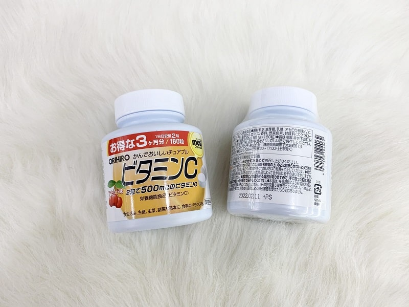 Viên nhai vitamin C Orihiro Most Chewable