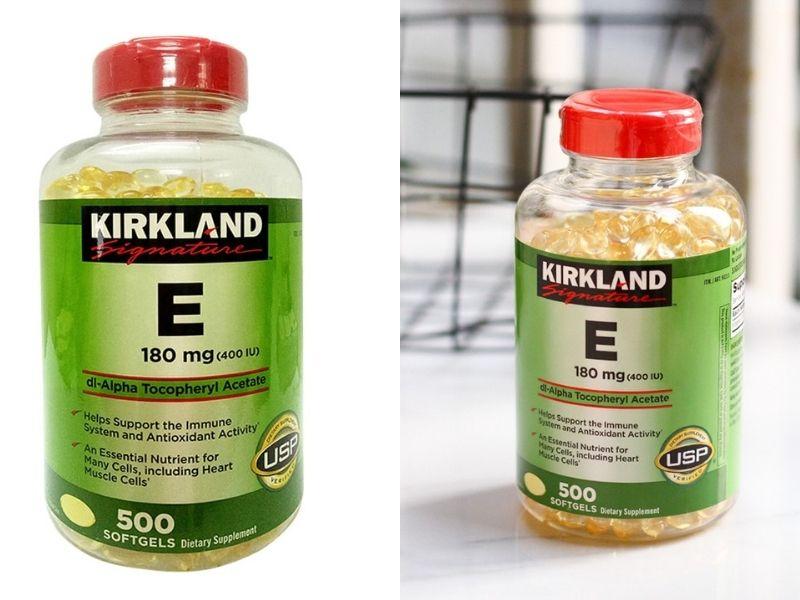 Sản phẩm Kirkland Vitamin E bổ sung dưỡng chất