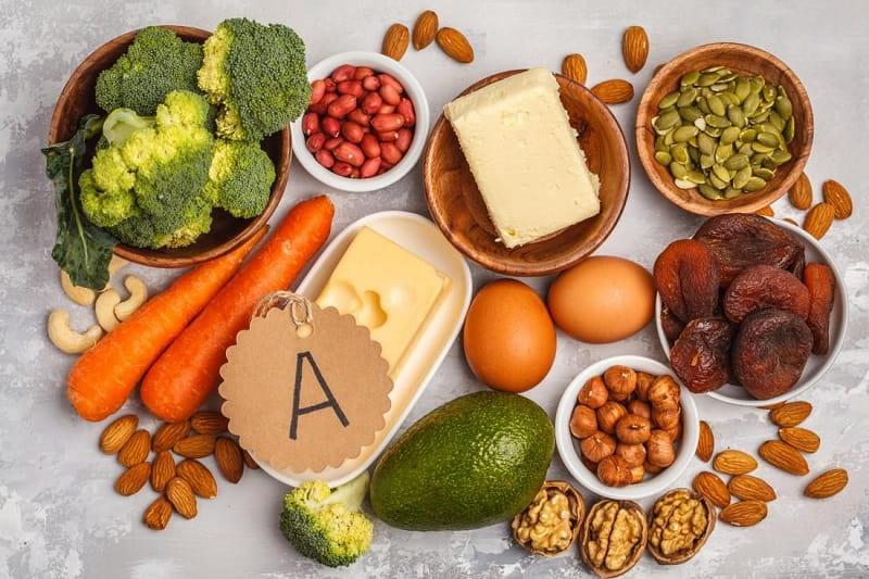 Vitamin A làm trắng da có nhiều trong các thực phẩm hàng ngày
