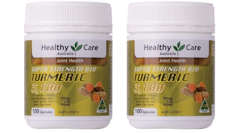 Viên uống giúp giảm đau dạ dày Healthy Care Turmeric 3000