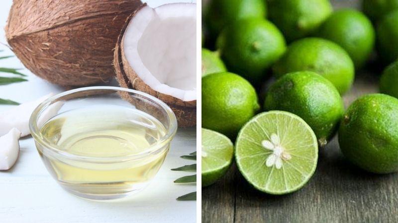 Kết hợp dầu dừa với chanh an toàn và dễ thực hiện