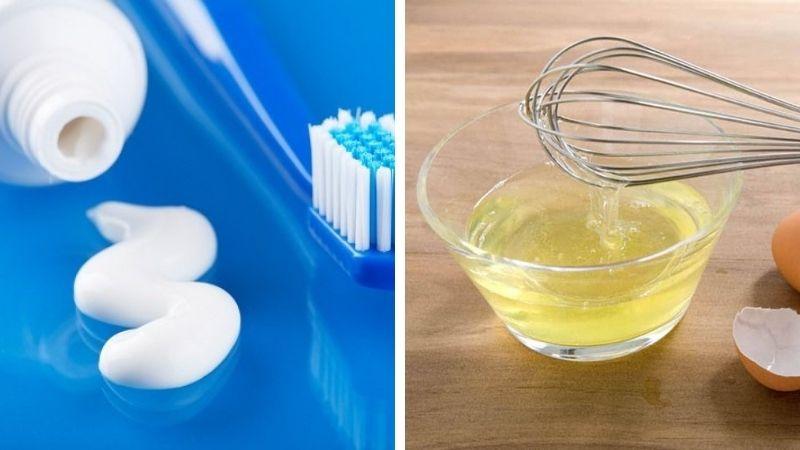 Cách trị tàn nhang bằng kem đánh răng và lòng trắng trứng