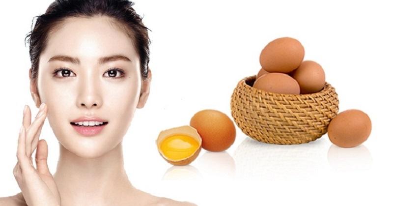 Trứng gà là nguyên liệu rất tốt cho sức khỏe của làn da, có thể bổ sung được nhiều dưỡng chất