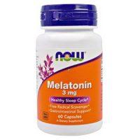 Viên uống hỗ trợ giấc ngủ Now Melatonin 3mg