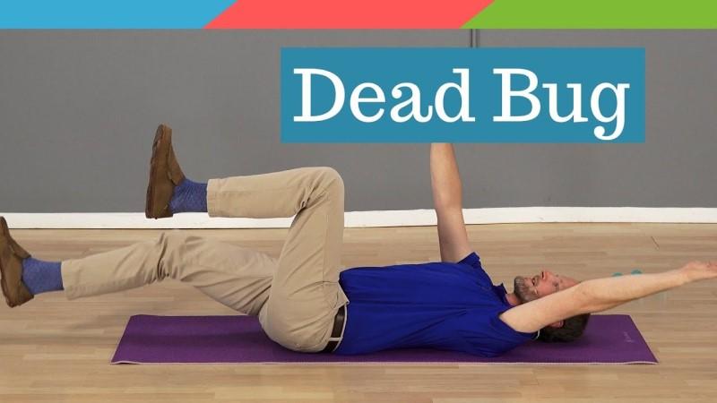 Bài tập Dead Bug hỗ trợ điều trị thoát vị đĩa đệm
