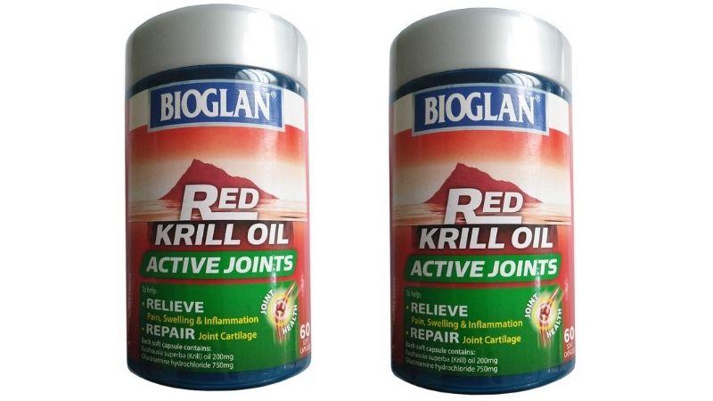 Viên uống chống loãng xương của Úc Bioglan Red Krill Oil & Glucosamine